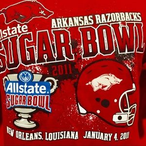 ARKANSAS RAZORBACK SUGAR BOWL ADULT MEDIUM SHIRT